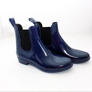 J crew  blue Chelsea rain boots Size 7